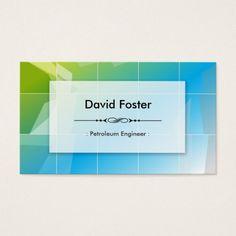 Petroleum Engineer Modern Elegant Simple Business Card