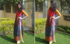 Outfit of the Day: The Colorblocked Kurta With Pallazos