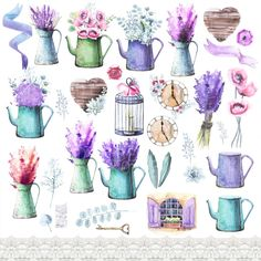 Watercolor Provence decor ~ Illustrations on Creative Market