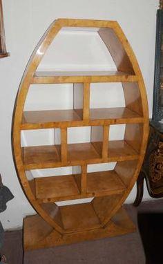 Art Deco Bookcase Shelf Unit Vintage Furniture Interior Design