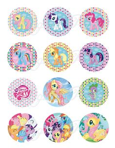 My little pony Cupcake Wrappers And Toppers little by MagicalParty