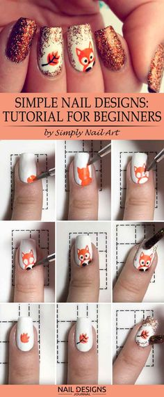 When we think about simple nail designs, we for sure want them to look cute and extraordinary, too. That is why we have come up with a thought that depicting a little fox on your nails may do the trick. We hope that you agree with us.