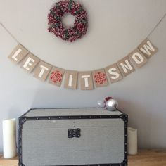 A personal favorite from my Etsy shop https://www.etsy.com/uk/listing/251863975/christmas-let-it-snow-hessian-bunting