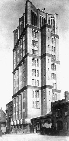 Borsigturm, Berlin, Eugen Schmohl, 1925 only 10 storeys really plus water tank (now offices / event space) but its great !