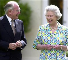 The Queen with Australian Prime Minister John Howard in the garden of Government House, Canberra, in 2000  © Press Association
