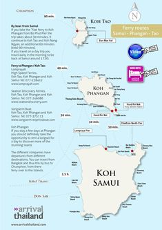 Arrival Thailand Samui Phangan Tao ferry map by Arrival Thailand - issuu