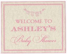 Baby Girl Shower Decoration Personalized Sign by luvs2create2