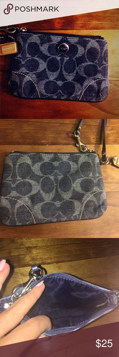 ✌🏼Denim Coach Wristlet✌🏼 Perfect condition Coach wristlet. Great piece for casual outfits! Coach Bags Clutches & Wristlets