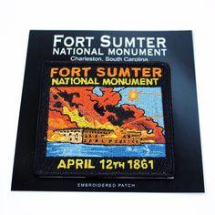 Fort Sumter National Monument Souvenir Patch South Carolina Park Civil War