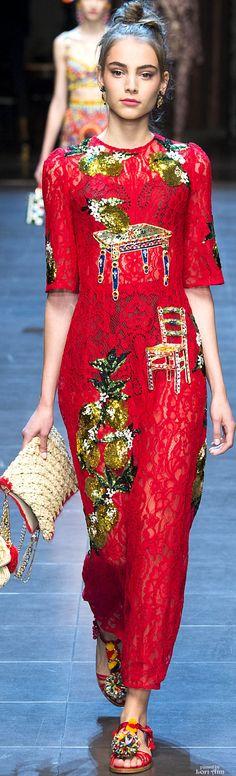 #Farbbberatung #Stilberatung #Farbenreich mit www.farben-reich.com Dolce & Gabbana Spring 2016 RTW
