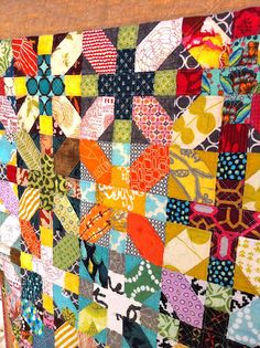 a little gray: Japanese x and + Scrappy Quilt- Done!