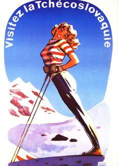 affiche sports d'hiver....réépinglé par Maurie Daboux .•*`*•. ❥