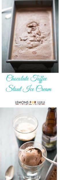 This ice cream recipe features the silkiest chocolate, rich stout beer and; toffee bites. It's decadent, smooth and creamy! lemonsforlulu.com