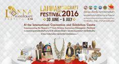 LANNA HANDICRAFT FESTIVAL 2016 สำนักงานพาณิชย์จังหวัดเชียงใหม่ Thai Design, Promotional Design, Thai Style, Handicraft, Diy And Crafts, Thailand, Writer, Projects To Try, Posters