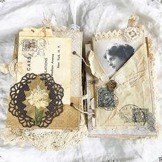 Another #vintagejunkjournal #junkjournal #junkjournals #heirloomjournal #timholtz #bookmaking #handmade #vintagejournal #shabbysoul #mixedmediaart #minijournal #artjournal #alteredbook #keepsake #antique_r_us