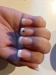 French nails with bling