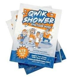 Shower wipes.