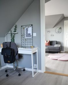 Bilderesultat for loftstue C'est Parti, Your Photos, Office Desk, Corner Desk, Loft, Bed, Furniture, Instagram, Home Decor