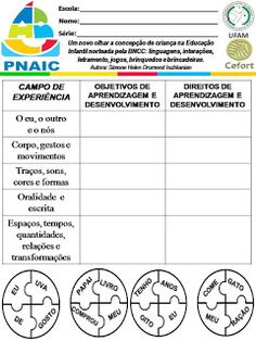 Atividades Escolares: VAMOS PLANEJAR: NOVA BNCC SEM COMPLICAÇÕES Nova, Education, Activities For Students, Infant Activities, Daycare Lesson Plans, Note Cards, Lets Go, Teaching, Onderwijs