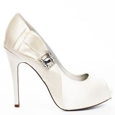 Wedding Shoes #wedding_shoes Heels I Love #heels #wedding #shoes #high_heels #white #love   Martinez Valero    Orli Pump - Ivory