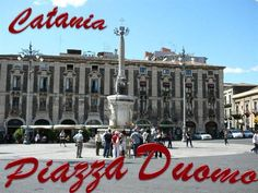 Piazza Duomo is the heart of Catania, with the city's symbol monument: the fountain with the Elephant Italian Proverbs, Fierce Animals, Roman Era, Baroque Art, Stone Statues, Old Wall, In Ancient Times, Catania, 15th Century