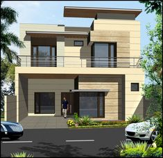 House Front Elevation Drawing Bathroom Ideas For 2019 Bungalow House Design, House Front Design, Modern House Design, Window Grill Design Modern, Front Elevation Designs, House Elevation, Dream House Plans, Modern House Plans, Home Grill Design