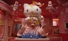 Another great Hello Kitty-themed park welcomes Kitty fans in Tokyo, Japan. The Hello Kitty Kawaii Paradise is an indoor park set in Tokyo's Odaiba district. It features a theatre with Hello Kitty cartoons projected onto a domed ceiling, a restaurant serving Hello Kitty pancakes and a big gift shop with lots of kitty goodies. An ideal destination to express your Hello Kitty craze!  Ok even I admit - that's a nice stature