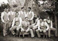 Groom and Groomsmen Portraits | Reno Wedding Photography