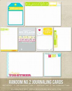 Image of Random no.2 Journaling Cards (Digital)