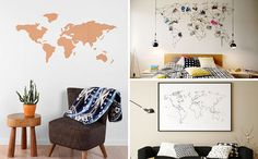 Whether you use it to teach your kids about world, track your travels, or just as wall art, a world map is a great way to fill an empty walls. To help you find the perfect one for your home we've compiled a list of 10 world maps that would look great on any modern wall.