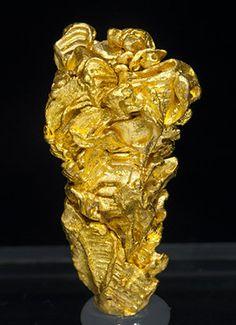 Native Gold - Serra do Caldeirão claims, Pontes e Lacerda, Alto Guaporé District, Mato Grosso Brazil (9-12/2015) Size: 3.2 × 1.6 × 1.2 cm