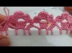 Sorry, This Video does not exist Crochet Edging Patterns, Crochet Lace Edging, Crochet Borders, Crochet Designs, Crochet Doilies, Knitting Charts, Baby Knitting Patterns, Lace Knitting, Stitch Crochet