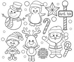 Santa and Friends Digital stamps set von pixelpaperprints auf Etsy MehrJungle Friends Digital stamps Clipart by pixelpaperprintsClip art images by Pixel Paper Prints. Buy 3 get 1 free by pixelpaperprintsAre you looking for cute high quality images to Christmas Colors, Christmas Crafts, Xmas, Vintage Christmas, Christmas Friends, Christmas Truck, Christmas Christmas, Clipart Noel, Art Clipart