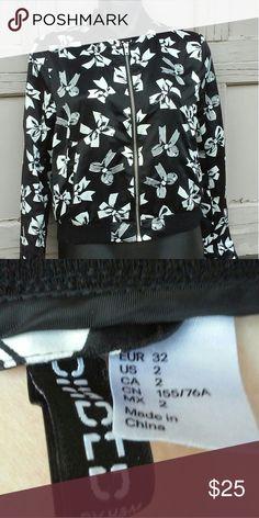 TODAYS SPECIAL ❤❤❤Bow Print Jacket Kawaii Good shape may have light snags. Divided Jackets & Coats