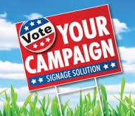 Custom yard sign printing & lawn sign printing by Printing Fly can help support all different kinds of campaigns. Political signage to helping attract new customers, directing traffic or promoting an event.