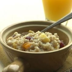 slow-cooker oatmeal from Eating Well magazine