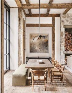 Modern Farmhouse Dining Room Decor Ideas – Best Home Decorating Ideas - Page 47 Home Design, Design Ideas, Design Inspiration, Interior Inspiration, Design Trends, Modern Design, Pallet Dining Table, Outdoor Dining, Diy Table