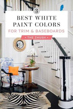 Find the three best white paint colors to use on your interior trim, built ins and baseboards. Trim Paint Color, White Paint Colors, Paint Colors For Home, House Colors, Best Interior Paint, Interior Paint Colors, Interior Trim, Interior Design, Best White Paint