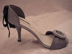 High heel shoe template — for fondant shoe