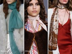 Fall/ Winter 2016-2017 Accessory Trends: Long Scarves & Neckerchiefs