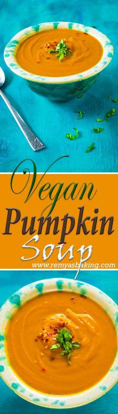 Simple delicious, creamy vegan pumpkin soup
