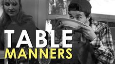 Humorous video of table manner etiquette from Art Of Manliness...this is a dying art.