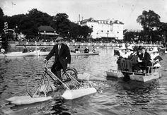 Early 20th Century Water Cyclists