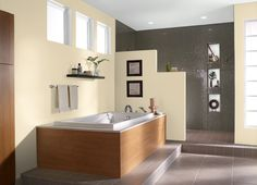 This is the project I created on Behr.com. I used these colours: HONEY INFUSION(P270-1),