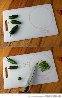 Awesome cutting board scale…