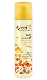 Aveeno SMART ESSENTIALS Daily Nourishing Moisturizer with SPF 30. Great day moisturizer from the drugstore.