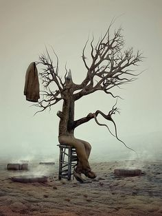 Surreal Art by Andrey Bobir...definitely using this when I teach Waiting for Godot! #Teaching #English with #art