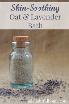 DIY skin-soothing oat and lavender bath