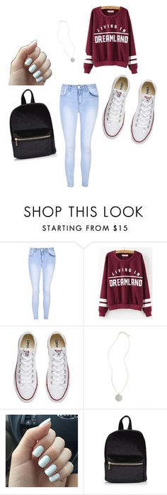 Back to School Outfit by georgiaedm on Polyvore featuring Glamorous, Converse and Topshop
