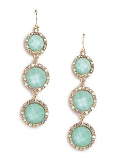 our mint disk glitz cascade earrings!